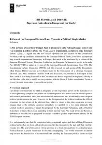 Reform of the European Electoral Law