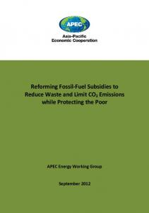 Reforming Fossil-Fuel Subsidies to Reduce Waste and Limit ... - IISD
