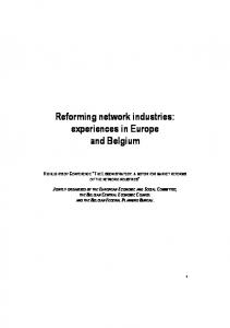 Reforming network industries - European Economic and Social ...