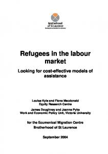 Refugees in the labour market: looking for cost-effective ... - CiteSeerX