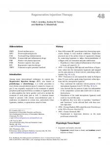 Regenerative Injection Therapy - Springer Link