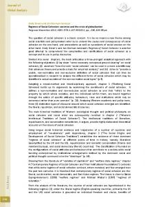 Regimes of Social Cohesion - Journal of Global Analysis