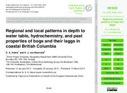 Regional and local patterns of bogs and laggs
