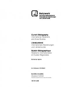Regional Bibliography 2010, January - Fachinformationsverbund ...