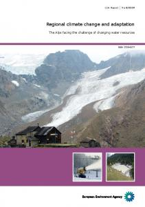 Regional climate change and adaptation - European Environment
