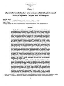 Regional crustal structure and tectonics of the Pacific ...