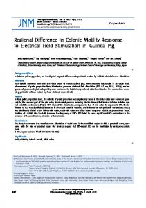 Regional Difference in Colonic Motility Response to Electrical Field ...