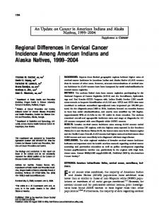 Regional differences in cervical cancer ... - Wiley Online Library