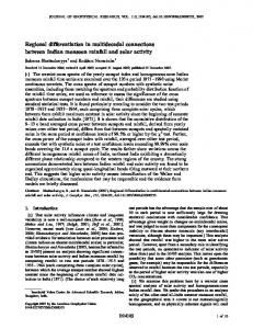 Regional differentiation in multidecadal ... - Wiley Online Library