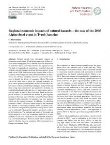 Regional economic impacts of natural hazards - Nat. Hazards Earth ...