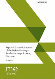 Regional Economic Impacts of the Makauri Managed ...
