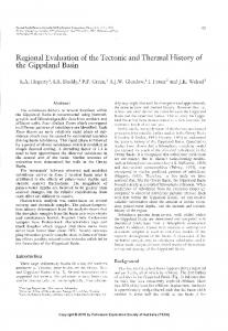 Regional Evaluation of the Tectonic and Thermal History of the ...