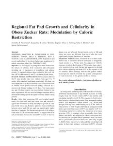 Regional Fat Pad Growth and Cellularity in ... - Wiley Online Library