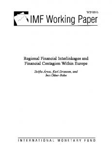 Regional Financial Interlinkages and Financial Contagion Within ... - IMF