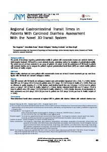 Regional Gastrointestinal Transit Times in Patients With Carcinoid ...