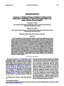 Regional Impacts of Irrigation in Mexico and the ... - AMS Journals
