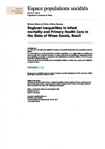 Regional inequalities in infant mortality and Primary