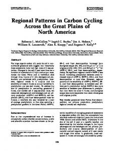 Regional Patterns in Carbon Cycling Across the Great ... - CiteSeerX