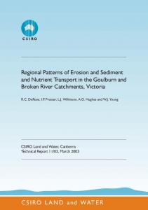 Regional Patterns of Erosion and Sediment and ... - Land and Water