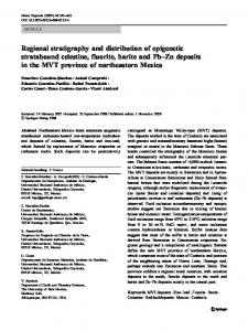 Regional stratigraphy and distribution of epigenetic stratabound ...