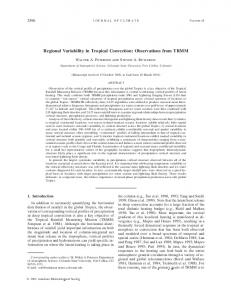 Regional Variability in Tropical Convection ... - AMS Journals
