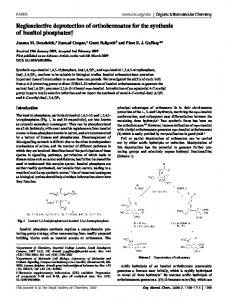 Regioselective deprotection of orthobenzoates for the