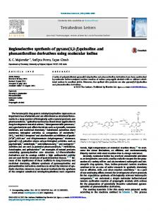 Regioselective synthesis of pyrano[3,2-f]quinoline and phenanthroline ...