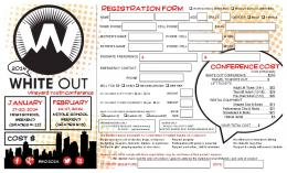 REGISTRATION FORM - Canyon View Vineyard Church