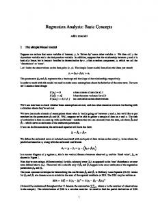 Regression Analysis: Basic Concepts