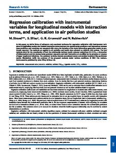 Regression calibration with instrumental ... - Wiley Online Library