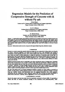 Regression Models for the Prediction of Compressive Strength of