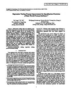 Regression Testing Process Improvement for Specification Evolution ...