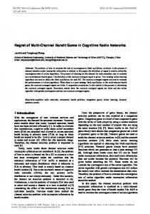Regret of Multi-Channel Bandit Game in Cognitive Radio Networks
