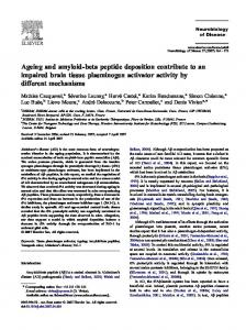 Regular Article Ageing and Amyloid-beta peptide ... - CiteSeerX