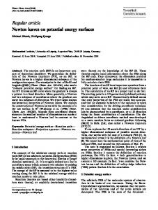 Regular article Newton leaves on potential energy surfaces