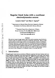 Regular black holes with a nonlinear electrodynamics source