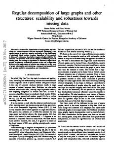 Regular decomposition of large graphs and other structures - arXiv