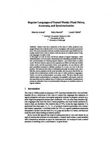 Regular Languages of Nested Words: Fixed Points, Automata ... - DCC