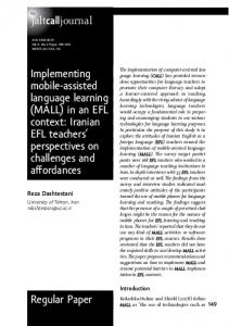 Regular Paper Implementing mobile-assisted language learning ... - Eric