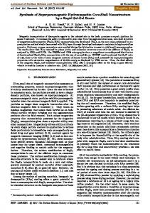 Regular Paper Synthesis of Superparamagnetic ... - J-Stage