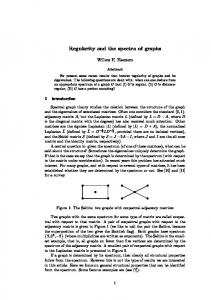 Regularity and the spectra of graphs - Semantic Scholar
