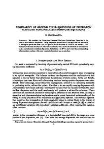 REGULARITY OF GROUND STATE SOLUTIONS OF DISPERSION ...