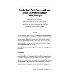 Regularity of Public Transport Usage: A Case ... - Scholar Commons