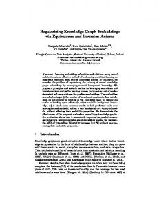 Regularizing Knowledge Graph Embeddings via ... - Luca Costabello
