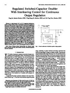 Regulated Switched-Capacitor Doubler With ... - IEEE Xplore