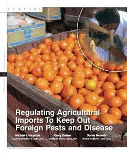 Regulating Agricultural Imports To Keep Out Foreign ... - AgEcon Search