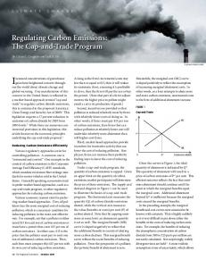 Regulating Carbon Emissions: The Cap-and-Trade Program - Core
