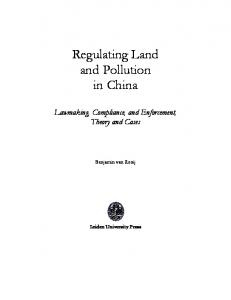 Regulating Land and Pollution in China