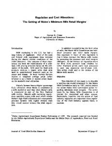Regulation and Cost Allocations: The Setting of ... - AgEcon Search