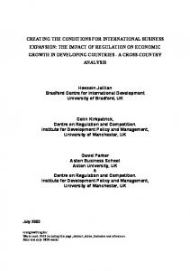 regulation and growth: explaining - AgEcon Search